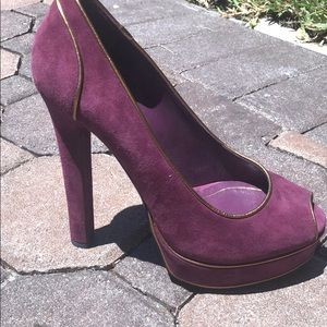 GUCCI HOUSTON PEEP TOE PUMP